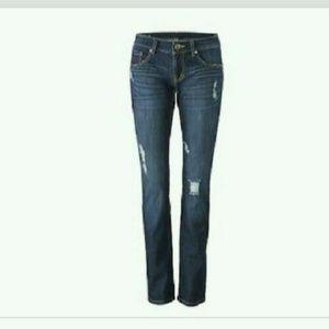 Cabi Slim Boyfriend Blue Distressed Jeans
